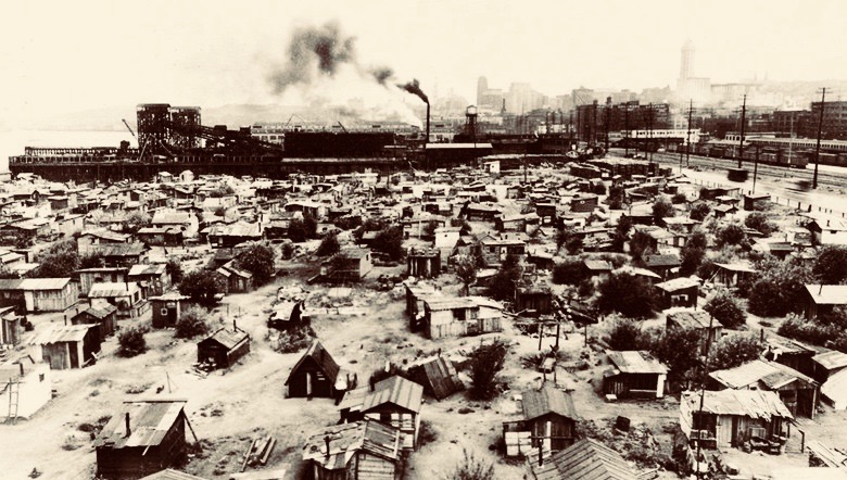 Depression-era 'Hooverville' in Seattle